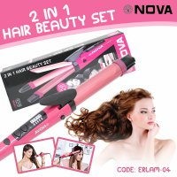 Catokan Big Nova 2In1 Professional Hair Curler - Catokan Rambut Lurus / Kriting / Curly - ELRAM-04