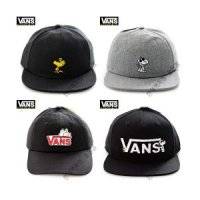 VANS unisex Hat Snapback snoopy peanuts collaboration black grey 4type VN0A36HYO9M HBBS