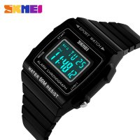 SKMEI Silicone Sport Watch Water Resistant 50m Black