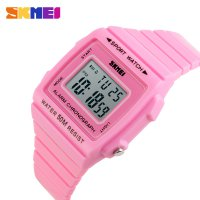 SKMEI Silicone Sport Watch Water Resistant 50m PINK