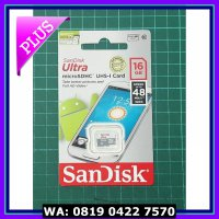 (Murah) Microsd Sandisk CL10 UHS - 16GB (Speed 48mb - Non adapter)