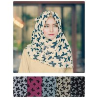 Pashmina Denim Butterfly Seri 1