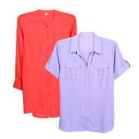 NEW ITEM! Ladies Full Color Shirt // 2 Model // Kemeja Wanita // Kemeja Office // Casual