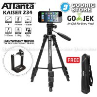 [Terbatas] Attanta Kaiser 234 Video LightWeight Tripod DSLR Smartphone + Holder U