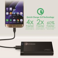 PowerBank Uneed 8000mah (REAL) Qualcomm Quick Charge 3.0 Type C