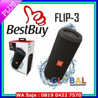 #Speaker JBL Flip 3 Speakerphone, Anti-percikan air, JBL Bass Radiator - Hitam