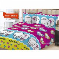 TERMURAH Sprei Lady Rose Motif Kitty Love