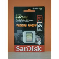 SANDISK SDXC 64GB EXTREME UP TO 90MB/S - SD CARD EXTREME 64 GB 90 MBPS