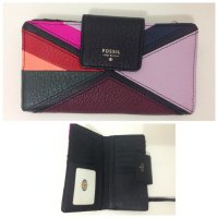 Dompet FOSSIL Sydney Tab Patchwork Hitam [ ORIGINAL FOSSIL WALLET ]