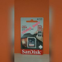 SANDISK SD CARD SDHC 32GB 48MB/S - SDCARD 32 GB 48 MBPS CLASS 10
