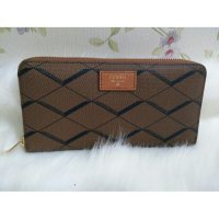 Dompet FOSSIL Sydney ZIP Brown Black [ ORIGINAL FOSSIL WALLET / CLUTCH