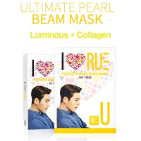 Korea Rue Kwave Kim Woo Bin Ultimate Pearl Care Mask 10 Sheets Luminous Collagen