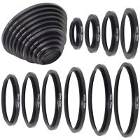 Step Up Ring 10pcs Lens Filter Adapter Mount 26mm-82mm For DSLR Camera -DC160