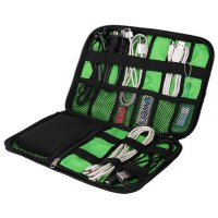 BUBM Gadget Organizer Bag Portable Case - DIS-L (OEM) - Black/Green