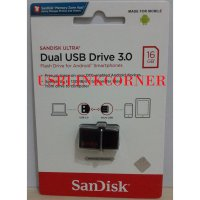 SANDISK FLASHDISK OTG 16GB USB 3 / FLASH DISK 16GB OTG - GARANSI RESMI