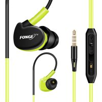 Original FONGE New Sport Earphone Bass Over Ear Design Headset Kabel