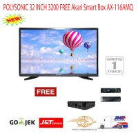 Paket Murah Polysonic LED TV 32 Inch 3200 Free Akari Smart Box-Promo
