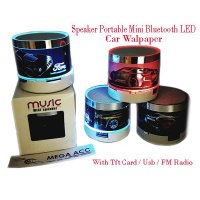 Speaker Musik Music Audio Portable Mini Bluetooth With LED Lamp Lampu Best Seller