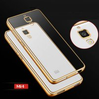 [globalbuy] luxury clear Gold original armor transparent soft tpu cell mobile phone cases /3673932