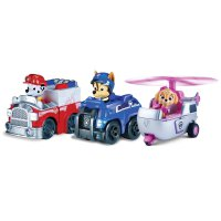 Paw Patrol Rescue Racers Vehicle Set Marshall, Chase, Skye Nickelodeon