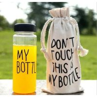 My Bottle Colour / Infused Water Fruit / Botol Minum Anak ++FREE POUCH - Hitam SJ0097