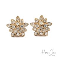 HanaChic The Party Anting Jepit White Gold Plated
