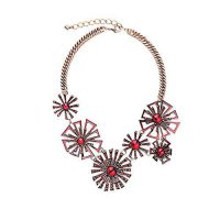 [macyskorea] Habeats Emerald Fan Ruby Jeweled Crystal Statement Necklace 18 Inch with Exte/12291072
