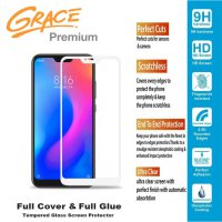 Grace Premium Xiaomi Mi A2 Lite - 5.84 inch Tempered glass Full Screen - Full Glue - Lis Putih