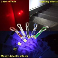 Gantungan Kunci 3 in 1 Money Detector + Laser Point + Senter LED