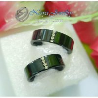 Cincin Couple Black Triple Permata
