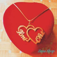 Kalung Love Couple Lapis Emas