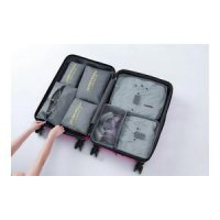 7 in1 TRAVEL SEASON Tas Travel Bag in Bag Organizer 1set isi 7pcs