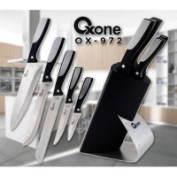 [Oxone] OX-972 Pisau Dapur Knife Block Set - Hitam