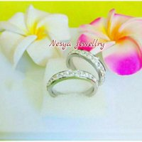 Cincin Couple Full Permata ~ Cincin Pasangan ~ Nesya Jewellry