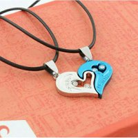 Kalung Couple Titanium 316L ~ Pasangan ~ Necklace love Nesya Jewellry 002