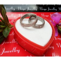 Cincin Couple Permata Pasir Putih ~ Nesya jewellry