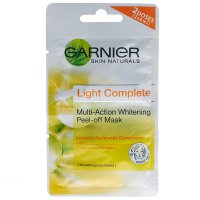Garnier Light Complete Whitening Peel Off Mask - Masker Garnier