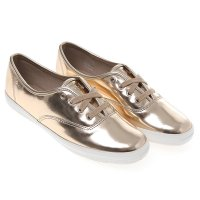 [Keds] CHAMPION METALLIC PATENT (WH56022) Gold (GD) sneakers