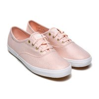 [Keds] CHAMPION METALLIC CANVAS (WF56439) Rose Gold (RGD) sneakers