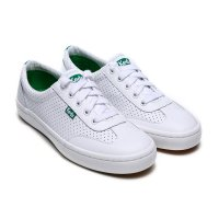 [Keds] TOURNAMENT PERF LEATHER (WH56633) White/grn (WG) sneakers