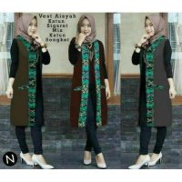 60187 / LONG VEST / CARDIGAN PANJANG /LONG VEST KATUN/L