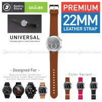 Leather Strap Genuine 22MM Xiaomi Huami Amazfit PACE / STRATOS / HONOR / SAMSUNG GEAR S3 Etc