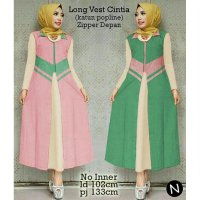 long vest coat cardigan panjang hijab fashion cintia