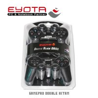 Stik PS/PC - JOYSTICK PC Gamepad/Game Pad Double Usb Eyota Hitam