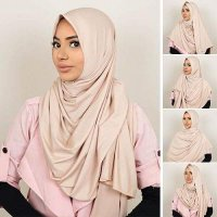 [HIJAB] 0269A5r Pashmina Instant Almeira 2 Face Double Loop 5 In 1 Mocca