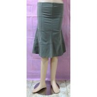 Rok Coklat Panjang Stretch Slim Fit (BS SK 17)
