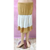 Long Skirt Brown Stripe White (BS SK 25)