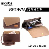 Cabs Pocket Grace (Tas Dompet Wanita Selempang Pesta Organizer) Brown