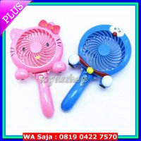 Kipas angin portable mini fan karakter Doraemon Hello kitty