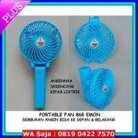 (Kipas Angin Listrik) PORTABLE FAN DORAEMON 868 / EMERGENCY FAN / KIPAS ANGIN